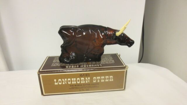 Older Avon USA Longhorn Steer Tai Winds Novelty After Shave-5 oz - Boxed