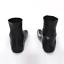 Unisex Natural Latex Five-toe Socks Foot Cover Short Tube Black Size S M L