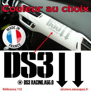 Stickers Tableau de bord DS3 - Citroen Racing DS 3 Planche intérieur ...