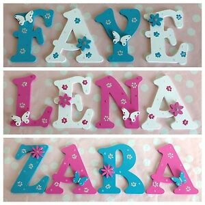 Details about Personalised Girls/Boys Bedroom Wall Door Wooden Letter Name  Plaque Sign Plate