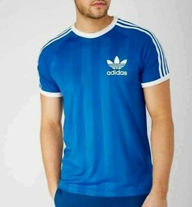 c576a826 RARE! adidas Originals Men's CLFN RETRO Poly TEE T-SHIRT BLUE LAST1 ...