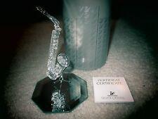 Swarovski Crystal SAXOPHONE WITH STAND Figurine NIB COA Retired MSR. $125.00