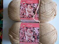 Red Heart Anne Geddes Baby Yarn, Teddy (beige), Lot Of 2 (340 Yds Ea)