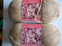 Red Heart Anne Geddes Baby Yarn, Teddy (beige), Lot Of 2 (340 Yds Ea)