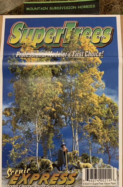 """350 to 450 Trees Super Value Pack Scenic Express-SuperTree 5 to 8/""""  12. TM"""