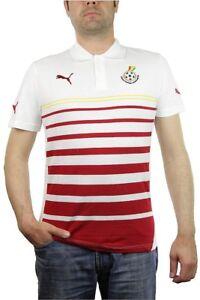 Puma-ghana-hoped-polo-hombre-blanco-rojo-Footbal