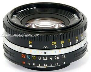 Nikkor-50mm-1-1-8-Nikon-AI-S-Pfannkuchen-Mark-III-Sharp-Prime-Objektiv-Film-amp-Digitale-FT