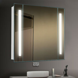 Electric Led Illuminated Bathroom Cabinet Mirror Sensor
