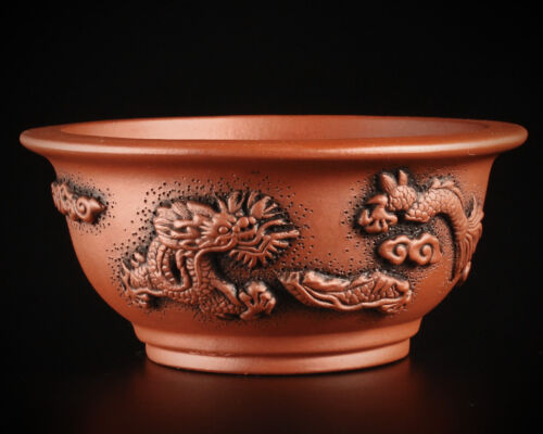 Tokoname Style Yixing Exhibition Quality Hand Made Bonsai Pots