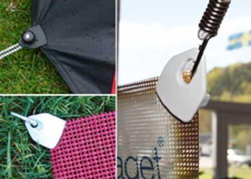 50 x mini-clip œillets-conception-tendeurs Noir Oeillets-spannfix-spannfixe serrage pince