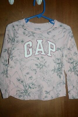 Girls' Clothing (newborn-5t) Baby & Toddler Clothing Gap 100% Cotton Pink Long Sleeve Crewneck Shirt/top Size 4t Up-To-Date Styling