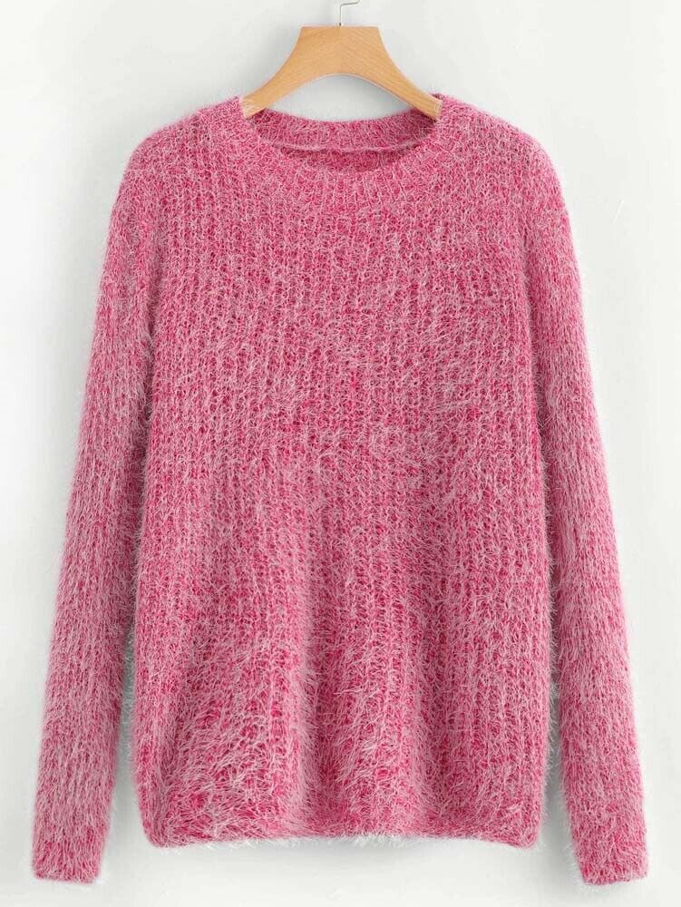 Fuzzy Pretty Sweater size OS (fits 32-38 bust)