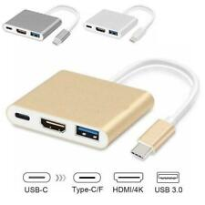 Type C USB 3.1 to USB-C 4K HDMI USB 3.0 Adapter Cable For Macbook in Hub 1 CL