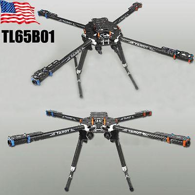TL65B01 Tarot Iron Man 650 3K Carbon Fiber Fully Foldable Quadcopter Frame USA
