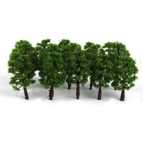 Dunkelgrün Plastik Modell Baum Zug Eisenbahn Landschaft 1 150 Skala Satz