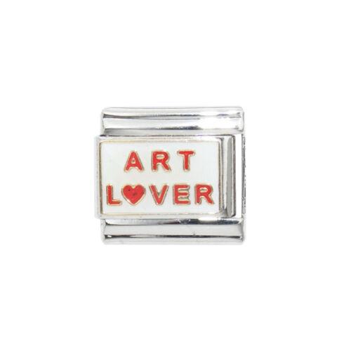 fits 9mm classic Italian charm bracelets Art Lover enamel 9mm charm