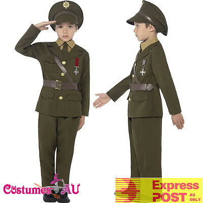 Soldier Ceremonial Children/'s Fancy Dress Costume Ages 3-13 Years Available