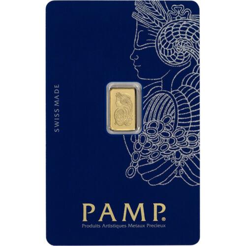 999.9 Fine in Sealed Assay Fortuna 1 gram Gold Bar PAMP Suisse