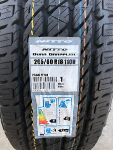 Nitto Dura Grappler >> Details About 4 New 265 60 18 Nitto Dura Grappler H T Tires