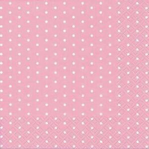 Details Zu 20 Servietten Mini Dots Rose Punkte Rosa Mädchen Muster Geburt Taufe Gepunktet