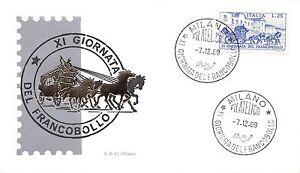 FDC-Siligato-Italia-1969-Giornata-del-francobollo-NVG-annullo-speciale
