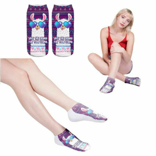 Women Kawaii 3D Cartoon Printed Short Socks Soft Girls Ankle Socks Art Hosiery
