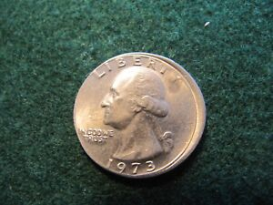 Details about 1973 WASHINGTON QUARTER 25 C OFF-CENTER ERROR RARE DATE ON  ERROR!