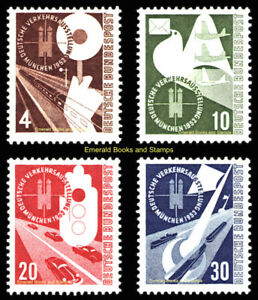 EBS-Germany-1953-German-Transport-Exhibition-Munich-Michel-167-170-MNH