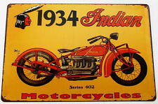 INDIAN MOTORCYCLE 2 METALL BLECHSCHILDER vintage cafe kneipe bar garage dekor