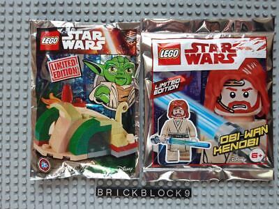 Sandcrawler Lego Novo Lote 2x Star Wars Polybag foil pack Obi-Wan Kenobi