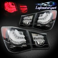 [bmw Style] 2010 2011 2012 2013 2014 2015 Chevy Cruze Black Led Tail Lights Pair on sale