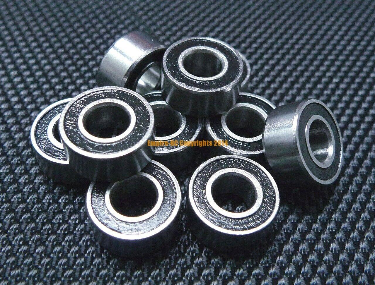 "5pcs FR188-2RS 1//4/"" x 1//2/"" x 3//16/"" Flanged Metal Rubber Sealed Ball Bearing"