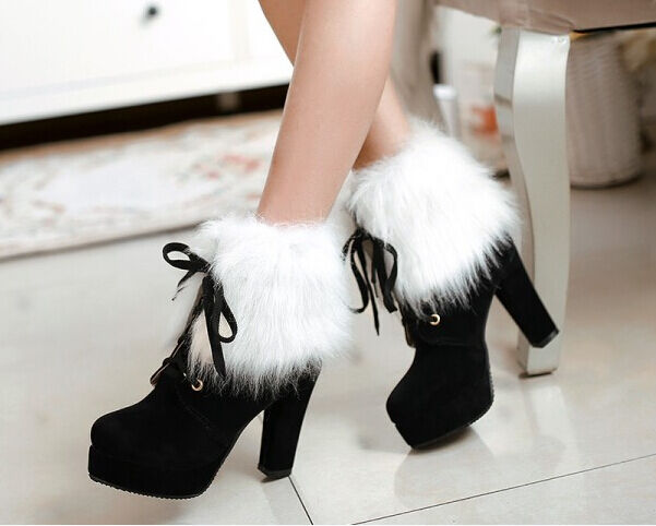 Botines botas zapatos zapatos botas de mujer talón 13 negro caldi cómodo como ante 9090 1dd38e