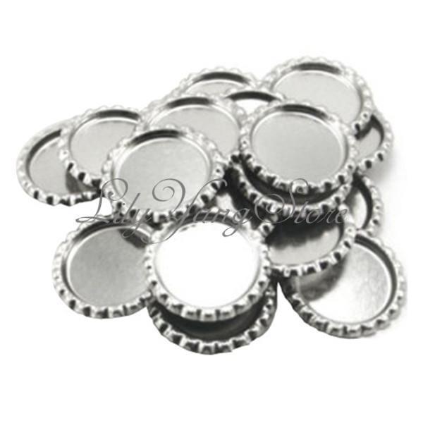 10/50/150Pcs Flat Silver Beer Coke Bottle Caps Epoxy Domes Dots Crafts 4.5cm Dia