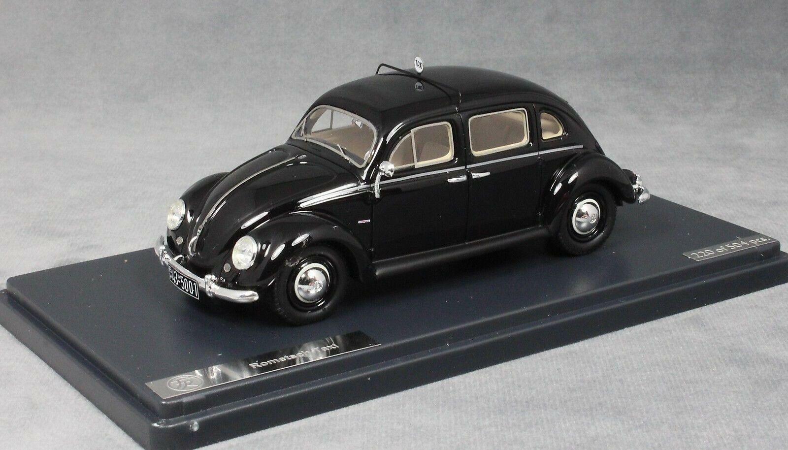 Matrix VOLKSWAGEN VW Beetle Taxi da ROMETSCH in Nero 1951 MX32105-011 1 43 NUOVO