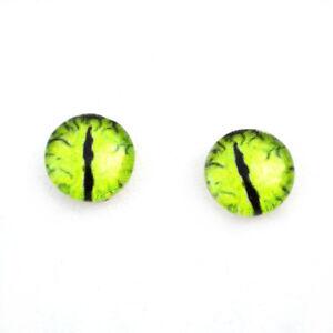 10mm Green Dinosaur Dragon Glass Eyes for Jewelry Art Dolls Craft Making Supply