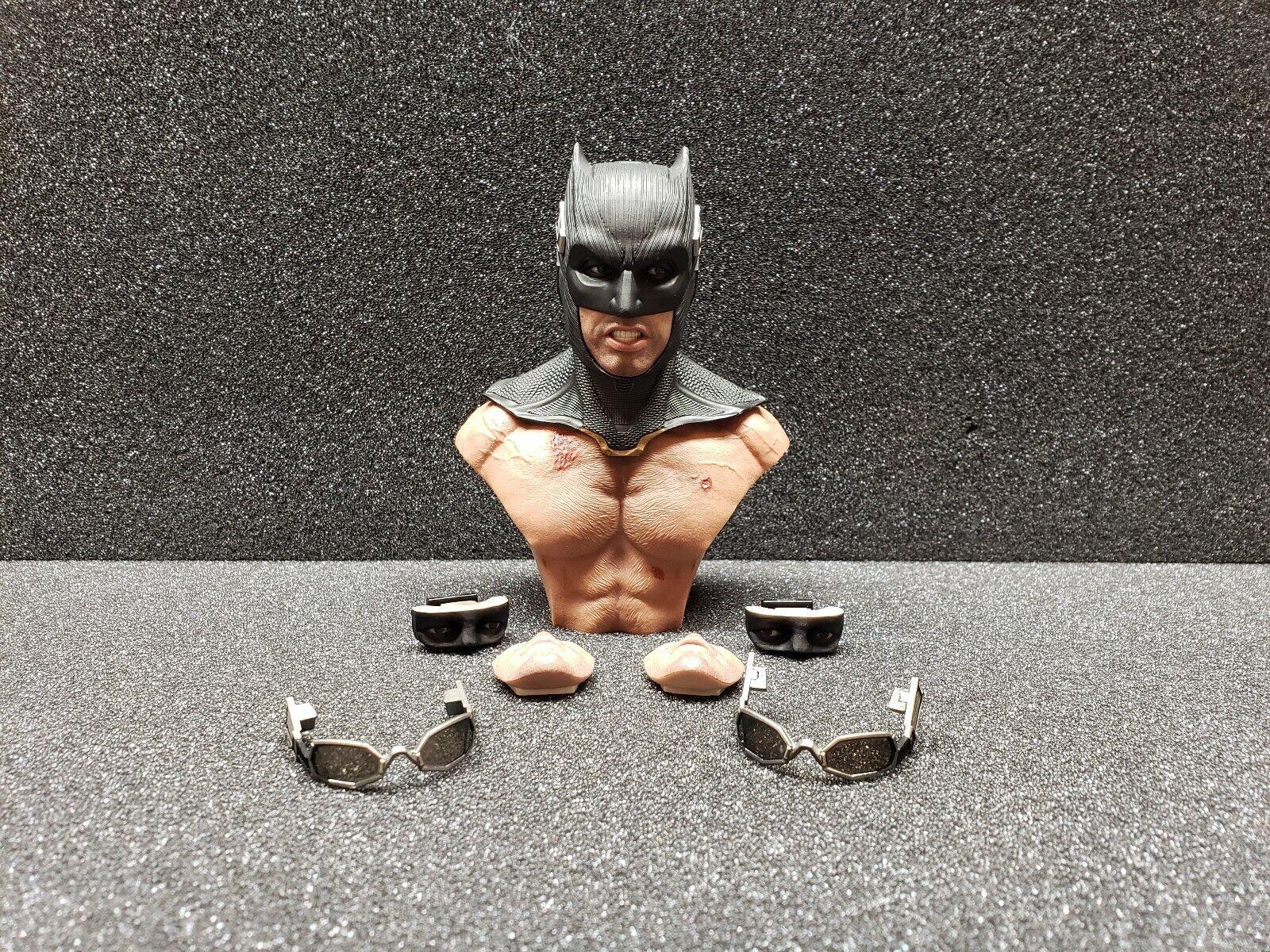 Hot Juguetes Liga De La Justicia Batman Capucha Gafas expresiones Boca táctico de cabeza