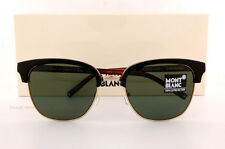 Brand New MONT BLANC Sunglasses MB 515S 515 05N Black/Solid Green for Men