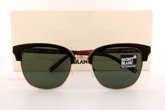 dcd339a8a8 Brand New MONT BLANC Sunglasses MB 515S 515 05N Black Solid Green for Men
