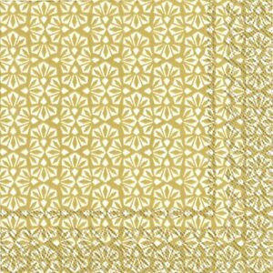 LOFT-white-gold-Abstract-pattern-Christmas-33cm-sq-paper-lunch-napkins-20-pack