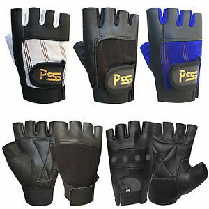 New-fingerless-leather-gloves-weight-training-gym-bus-driving-cycling-wheelchair