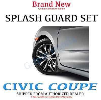 Genuine OEM Honda Civic 2dr Coupe 4dr Sedan Splash Guard Set  1996-1998 S01 S04