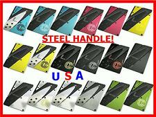 Credit Card Knife Multi Color Folding Survival Wallet Knives Tool Pocket Steel