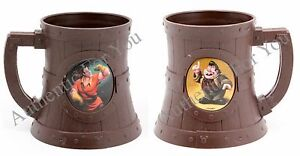 NEW Disney Parks LeFou's Brew Souvenir Stein Mug Cup Beauty and the Beast Gaston