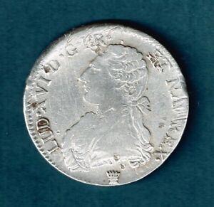61TB8     1  ECU    1785  I    LOUIS   XVI     ARGENT         ASSEZ   RARE
