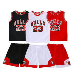 Kids Baby Boys#23 Basketball Jerseys Short Suits kits UK Girls 1-10 years Sets