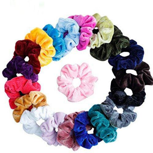 9-20PCS Women Girls Scrunchy Hair Ties Scrunchie Scrunchies Accessories Velvet T