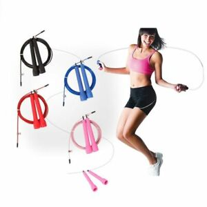 3M Jump Skipping Ropes Cable Steel Adjustable Fast Speed ABS Handle Skip Rope