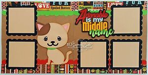 Elite4U-Premade-Scrapbook-Page-Die-Cut-Paper-Piece-Pet-Cat-Boy-Girl-BLJgraves-38