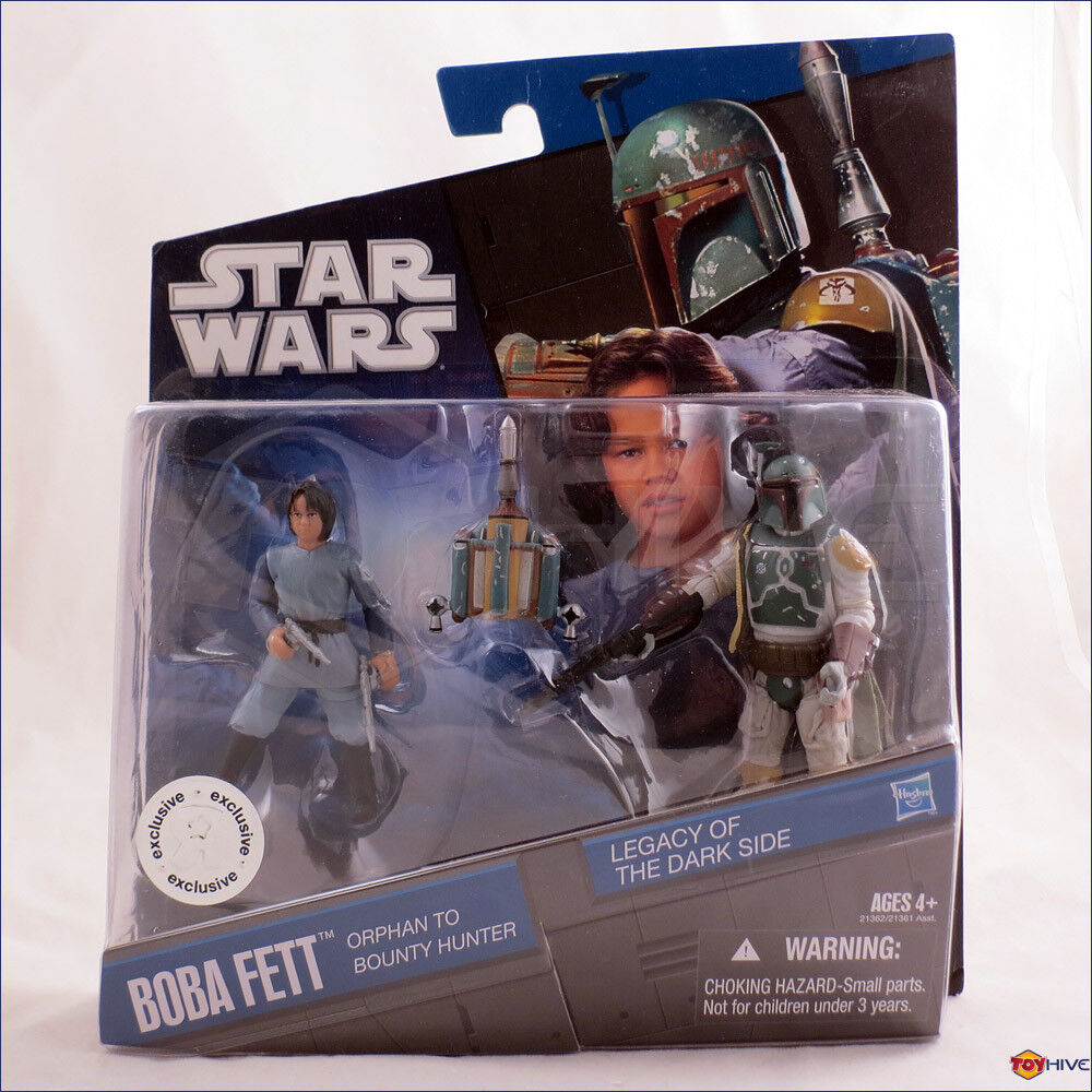 Star Wars Boba Fett Orphan to Bounty Hunter Legacy of the Dark Side - worn box